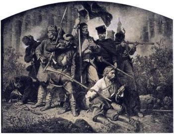Artur Grottger, Polonia: Bitwa, obrazy inspirowane Powstaniem Styczniowym 22.I.1863